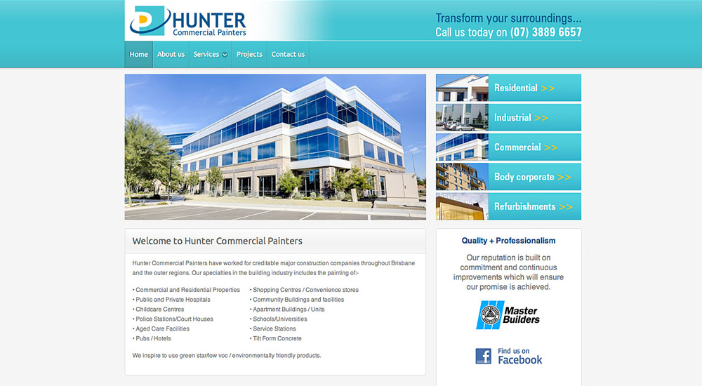 Hunter Commercial Painters old site