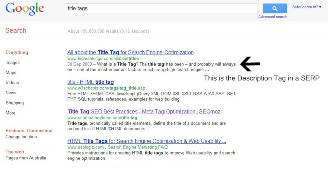 SERP-description-tag