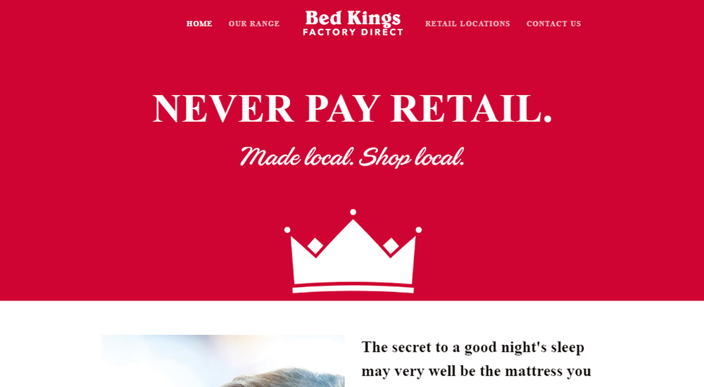Bed Kings old site