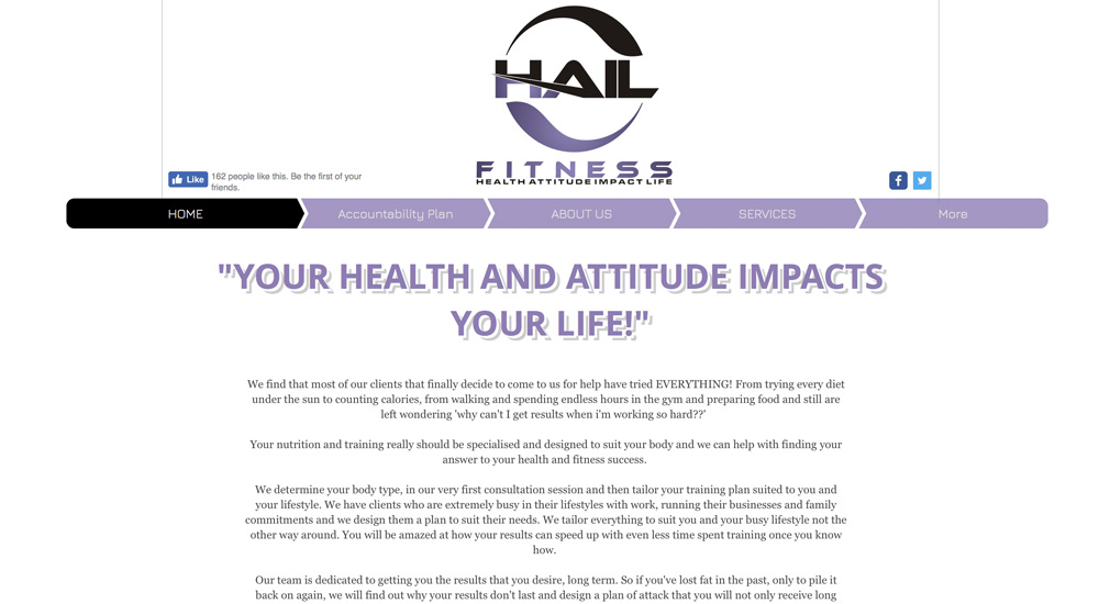 HAIL Fitness old site